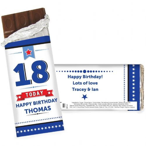 Personalised Birthday Star Chocolate Bar